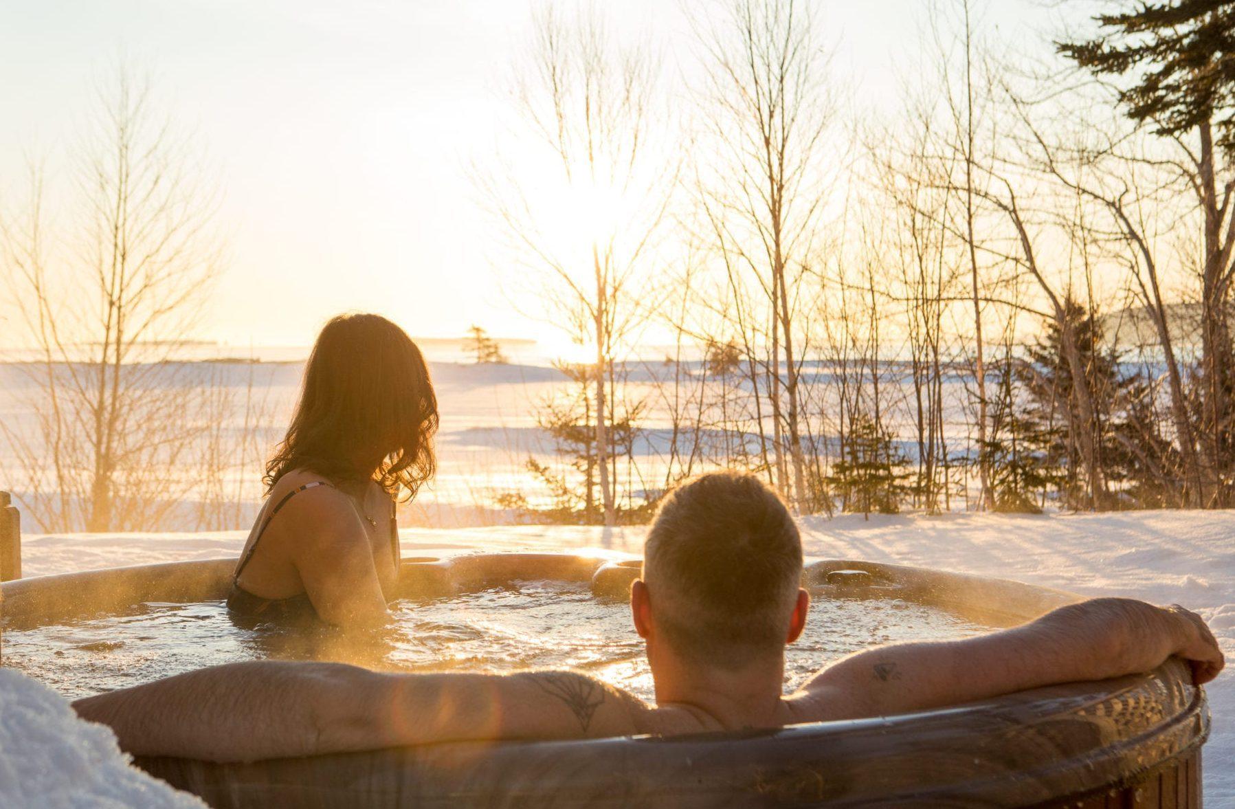 Hot Tub at Blue Chalet