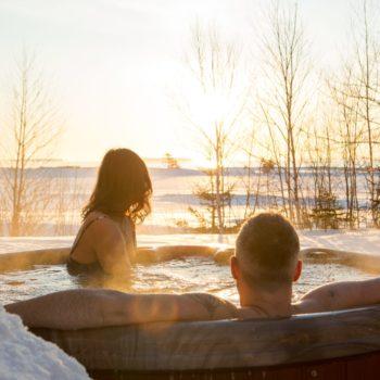 Hot Tub at Cabot Shores