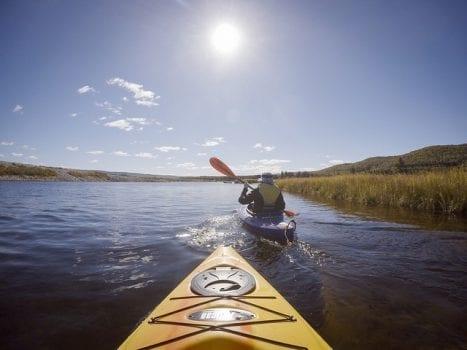 Photo of a Kayak on Cape Breton Island