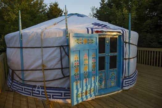Photo of a Yurt near the Best Waterfalls on Cape Breton.